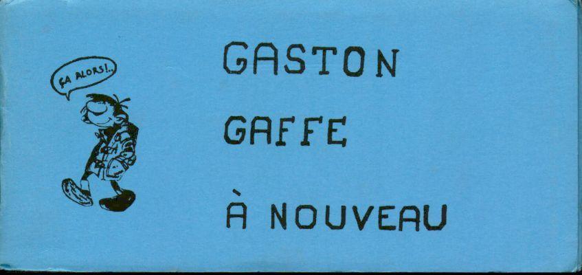 Couverture de Gaston (Hors-série) -Pir2- Gaffe à nouveau