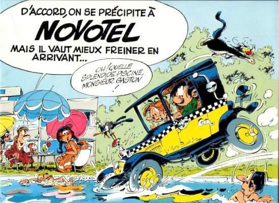 Couverture de Gaston (Hors-série) -Pub- Gaston au Novotel