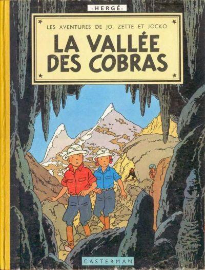 Couverture de Jo, Zette et Jocko (Les Aventures de) -5B20b- La vallée des cobras