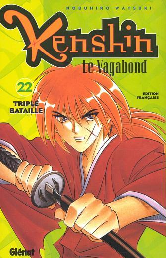 Couverture de Kenshin le Vagabond -22- Triple bataille