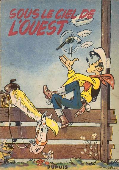 Couverture de Lucky Luke -4- Sous le ciel de l'Ouest