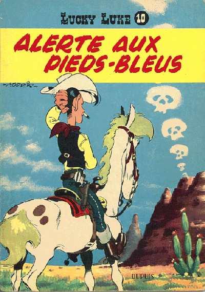 Couverture de Lucky Luke -10- Alerte aux Pieds-Bleus