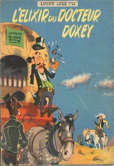 Couverture de Lucky Luke -7- L'Elixir du docteur Doxey