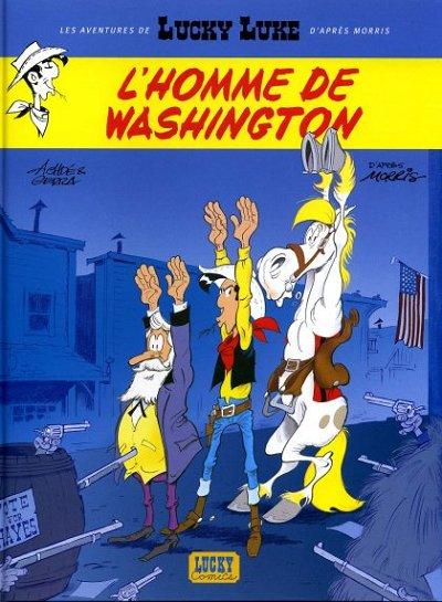 Couverture de Lucky Luke (Les aventures de) -3- L'homme de Washington