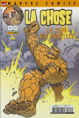 Couverture de Marvel Heroes Hors Série (Marvel France - 2001) -15- La Chose: La foire aux monstres