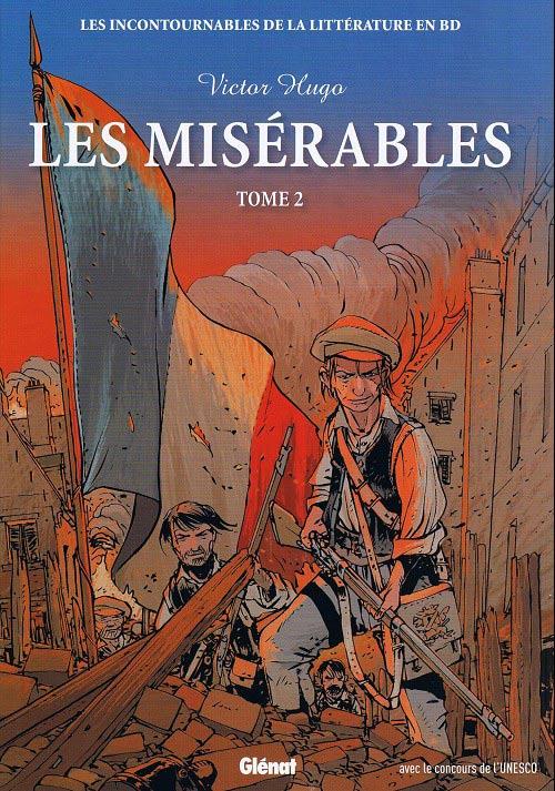 Couverture de Les incontournables de la littérature en BD -13- Les Misérables - Tome 2
