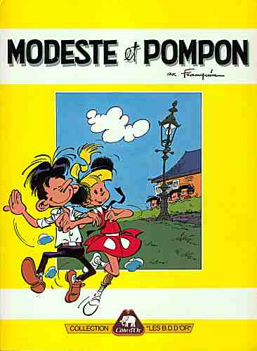 Couverture de Modeste et Pompon (Franquin) -Pub- Modeste et Pompon 01