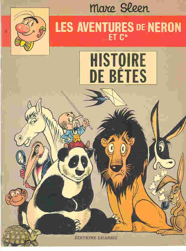 Couverture de Néron et Cie (Les Aventures de) (Érasme) -76- Histoire de Bêtes