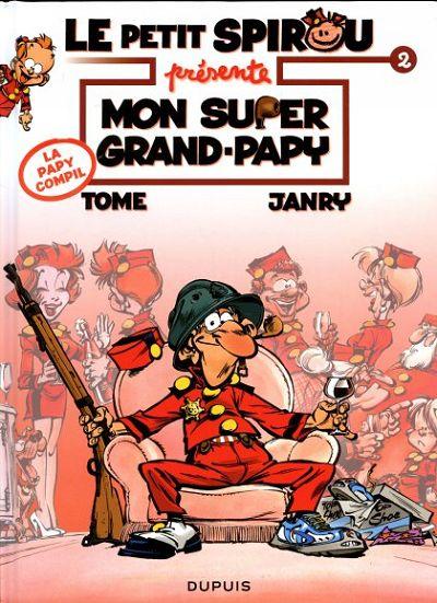 Couverture de Le petit Spirou présente... -2- Mon super Grand-Papy