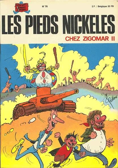 Couverture de Les pieds Nickelés (3e série) (1946-1988) -76- Les Pieds Nickelés chez Zigomar II