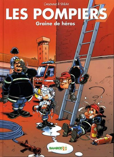 Couverture de Les pompiers -7- Graine de héros