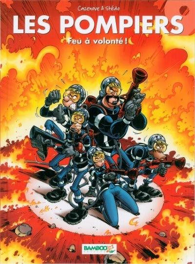 Couverture de Les pompiers -9- Feu à volonté !