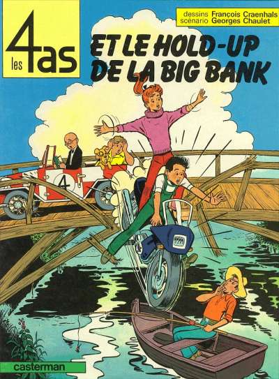 Couverture de Les 4 as -22- Les 4 as et le hold-up de la big bank