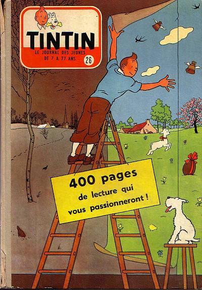 Couverture de (Recueil) Tintin (Album du journal - Édition française) -26- Tintin album du journal