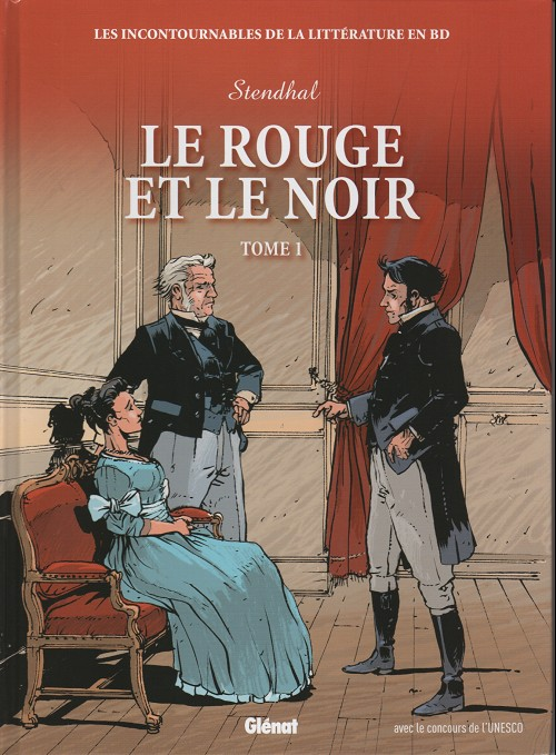 Couverture de Les incontournables de la littérature en BD -25- Le Rouge et le Noir - Tome 1