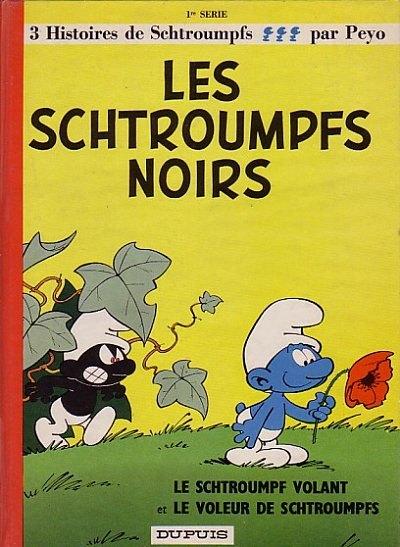 Couverture de Les schtroumpfs -1- Les Schtroumpfs noirs