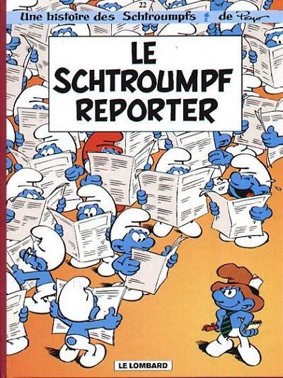 Couverture de Les schtroumpfs -22- Le Schtroumpf reporter
