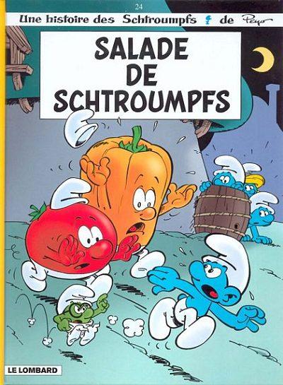 Couverture de Les schtroumpfs -24- Salade de Schtroumpfs