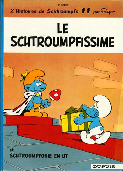 Couverture de Les schtroumpfs -2- Le Schtroumpfissime (+ Schtroumpfonie en ut)
