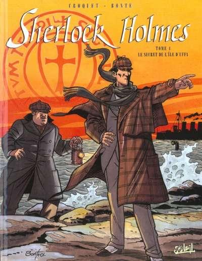 Couverture de Sherlock Holmes (Croquet/Bonte) -4- Le secret de l'île d'Uffa