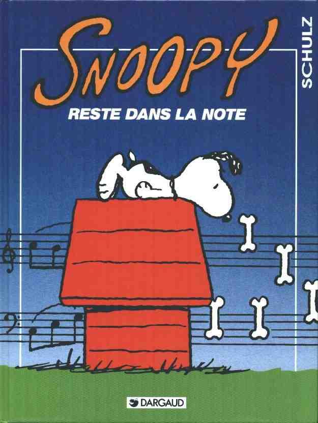 Couverture de Peanuts -6- (Snoopy - Dargaud) -23- Snoopy reste dans la note