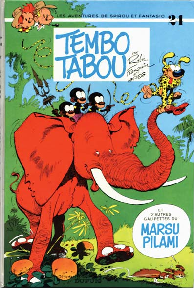 Couverture de Spirou et Fantasio -24- Tembo Tabou