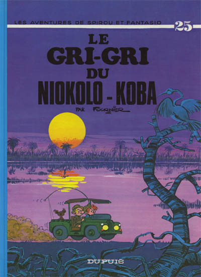Couverture de Spirou et Fantasio -25- Le gri-gri du Niokolo-Koba