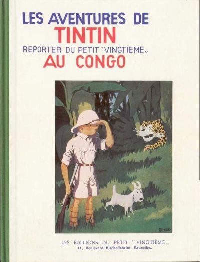 Couverture de Tintin (Fac-similé N&B) -2- Tintin au Congo