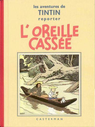 Couverture de Tintin (Fac-similé N&B) -6- L'oreille cassée
