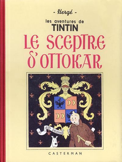 Couverture de Tintin (Fac-similé N&B) -8- Le sceptre d'Ottokar