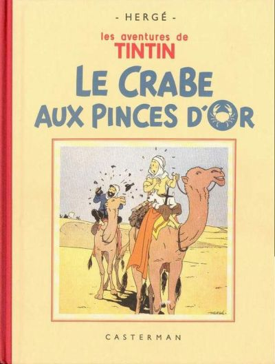 Couverture de Tintin (Fac-similé N&B) -9- Le crabe aux pinces d'or