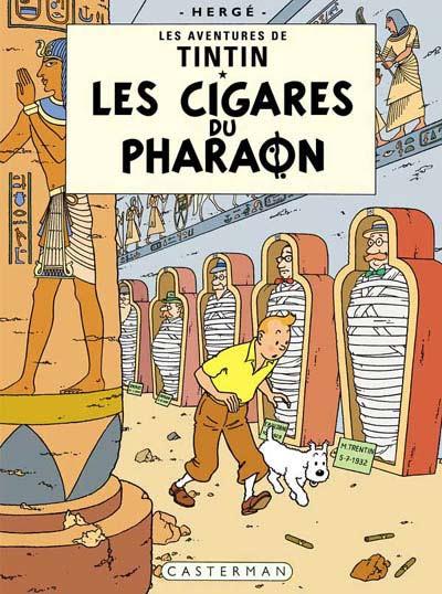 Couverture de Tintin -4- Les cigares du pharaon