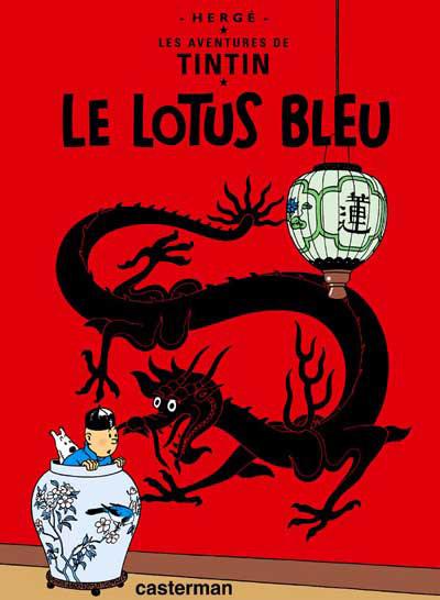 Couverture de Tintin -5- Le lotus bleu