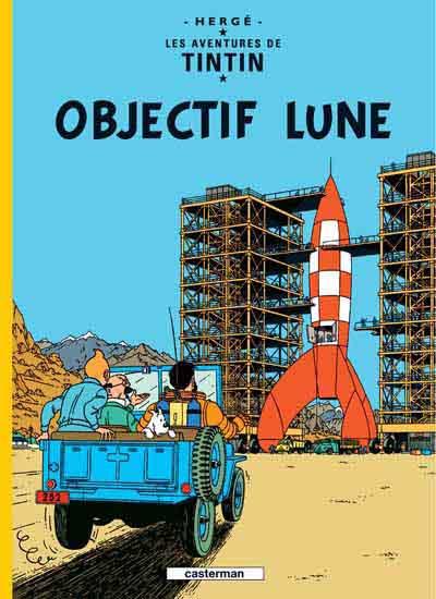 Couverture de Tintin -16- Objectif Lune