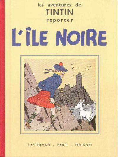 Couverture de Tintin (Fac-similé N&B) -7- L'île noire