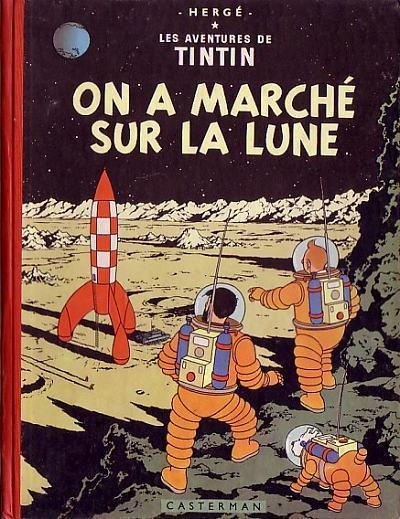 bande dessinee tintin on a marche sur la lune