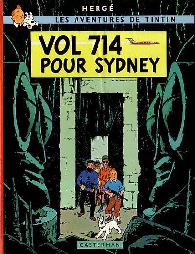 Couverture de Tintin (Historique) -22B37- Vol 714 pour Sydney