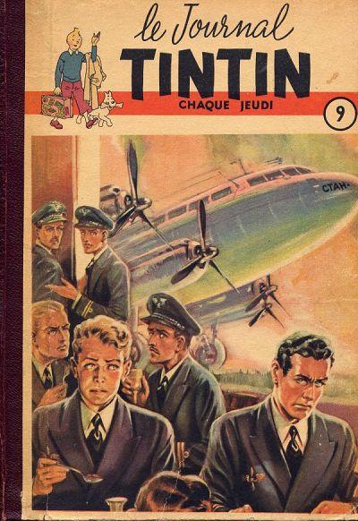 Couverture de (Recueil) Tintin (Album du journal - Édition française) -9- Tintin album du journal