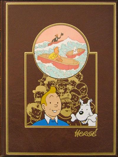 Couverture de Tintin (L'œuvre intégrale d'Hergé - Rombaldi) -2- Tintin en Amérique-Les cigares du Pharaon-...