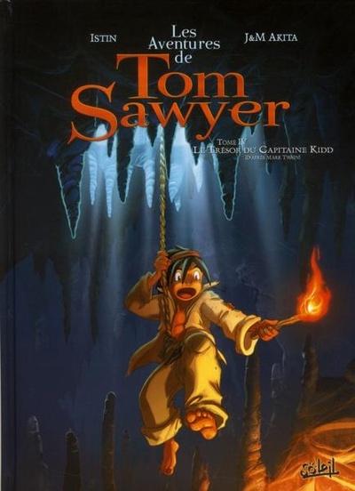 Couverture de Tom Sawyer (Les Aventures de) (Akita/Istin) -4- Le trésor du capitaine Kidd