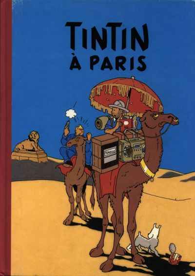 Couverture de Tintin - Pastiches, parodies & pirates -11- Tintin à Paris