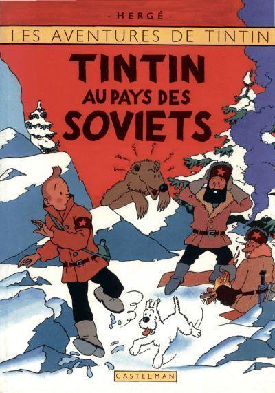 Couverture de Tintin - Pastiches, parodies & pirates -4- Tintin au pays des Soviets