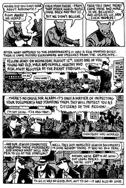 an analysis of regret is everywhere in maus by art spiegelman Mixing words and pictures people came from everywhere because that's where the underground comics were happening image by art spiegelman/meta maus.
