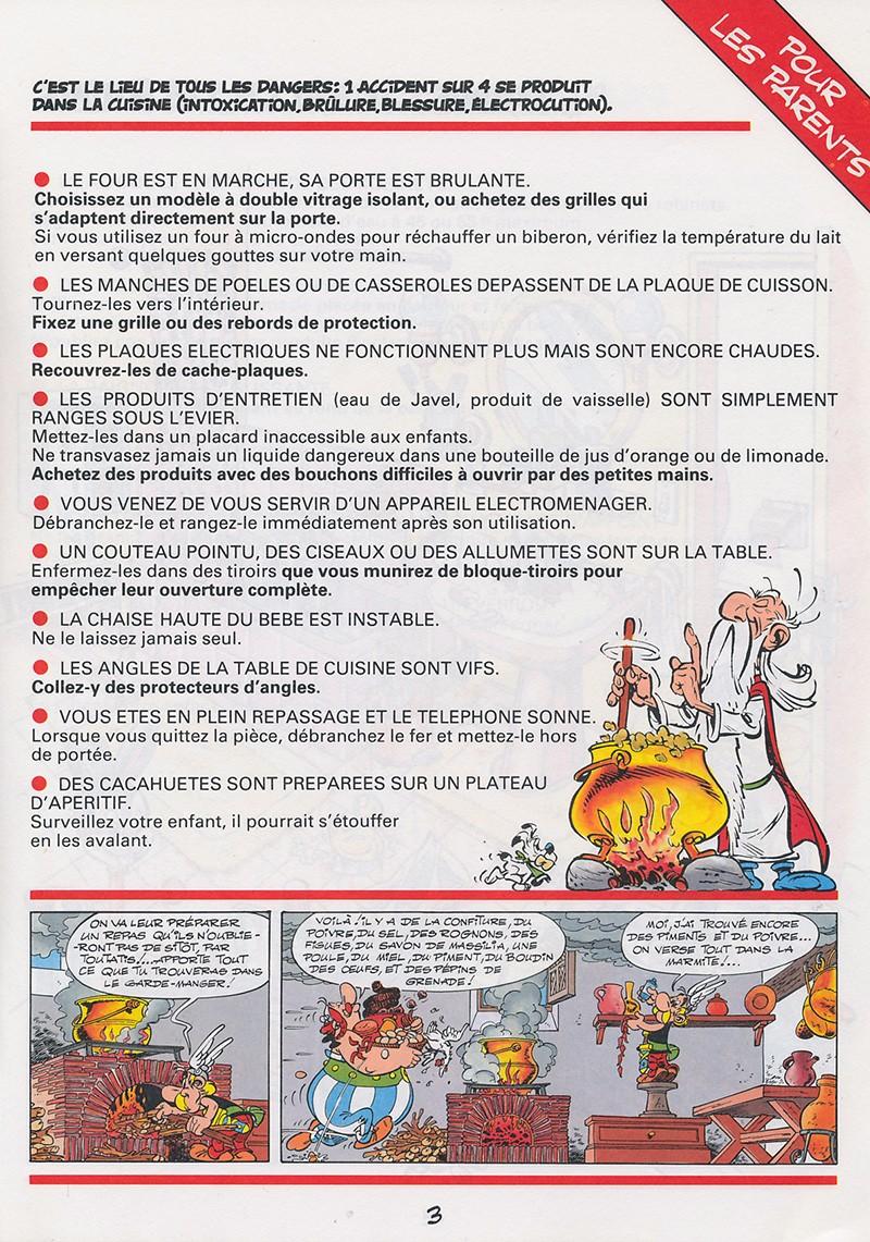 Extrait De Astérix (Publicitaire)  12  La Chasse Aux Dangers Dans La Maison  ...