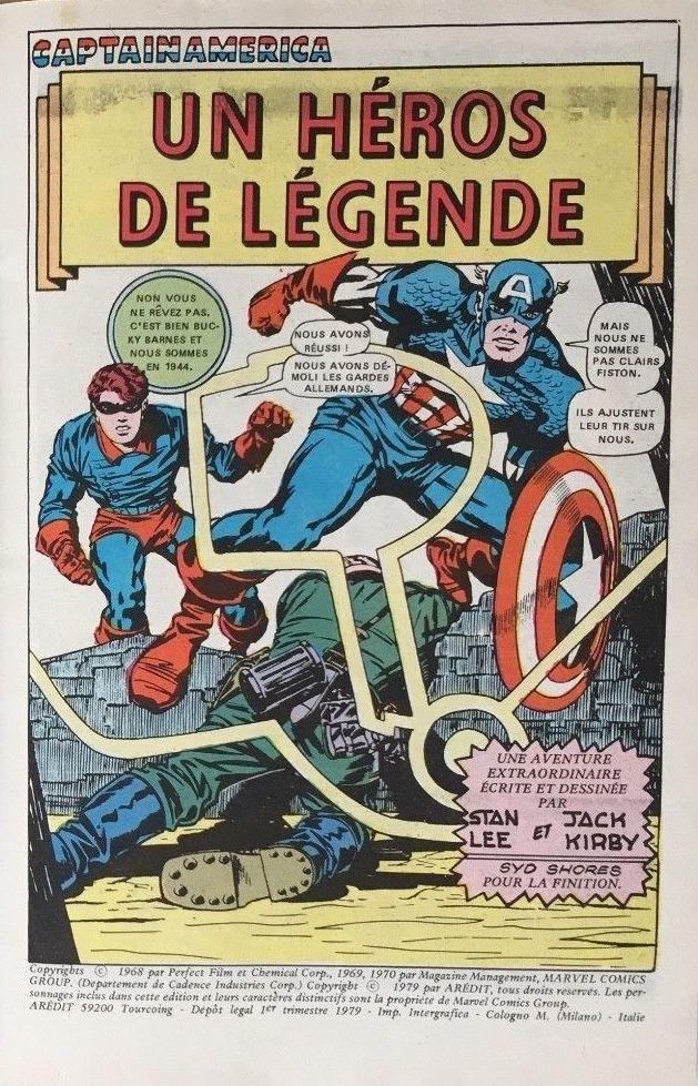 Captain America 1re Série Aredit Artima Color Marvel