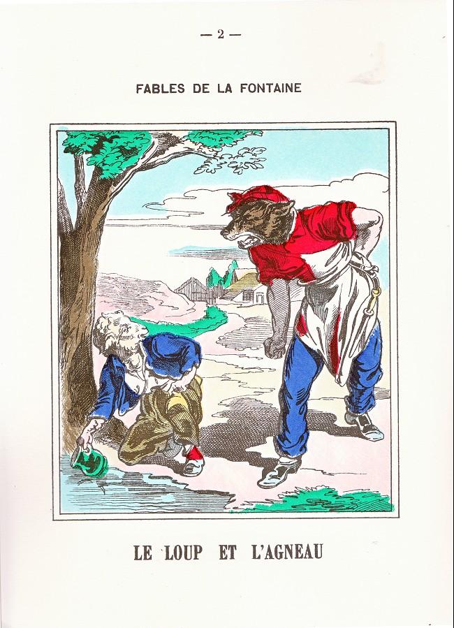 Fables De La Fontaine Imagerie D Epinal 1 Fables De La Fontaine