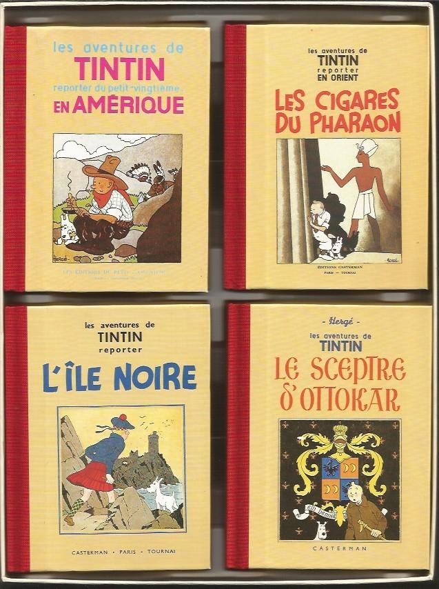 L'oeuvre intégrale d'Hergé - Tome 12, Tintin noir sur blanc (coffret 8 mini albums)