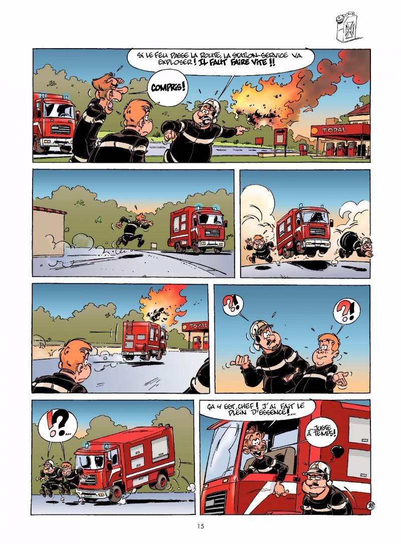 livre bd les pompiers
