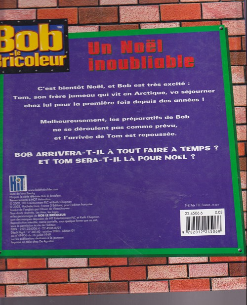 Bob Le Bricoleur Bd Informations Cotes