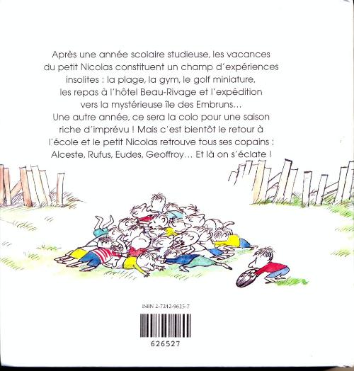 2151c77c06971c ... Verso de Le petit Nicolas -INT- Les vacances du petit Nicolas - Le petit